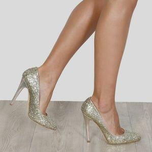 NWT Jimmy Choo VICTORIA 120MM gold heels 39.5